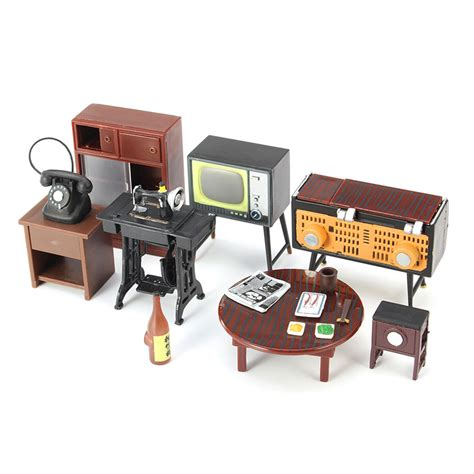 Furniture For Families by Miniature Dollhouse Furniture Set Sewing Machine Telephone