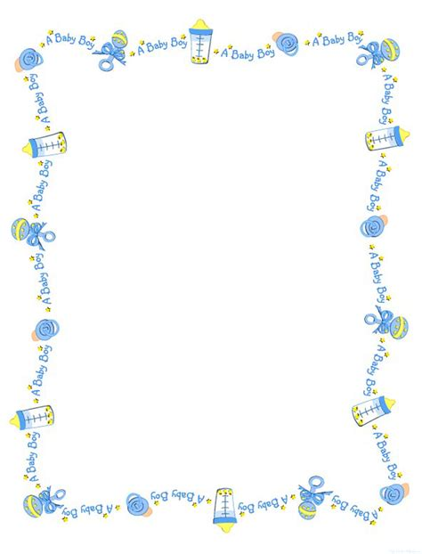 baby shower borders clip free printable digital scrapbook 4th of july s
