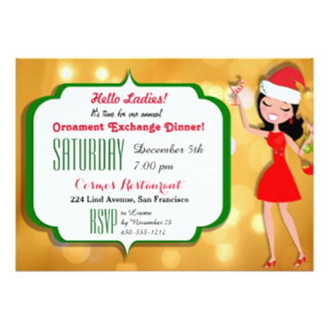 sle wording for ornament exchanges ornament exchange invitations announcements zazzle