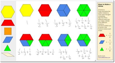 drawing with pattern blocks control alt achieve pattern block templates and