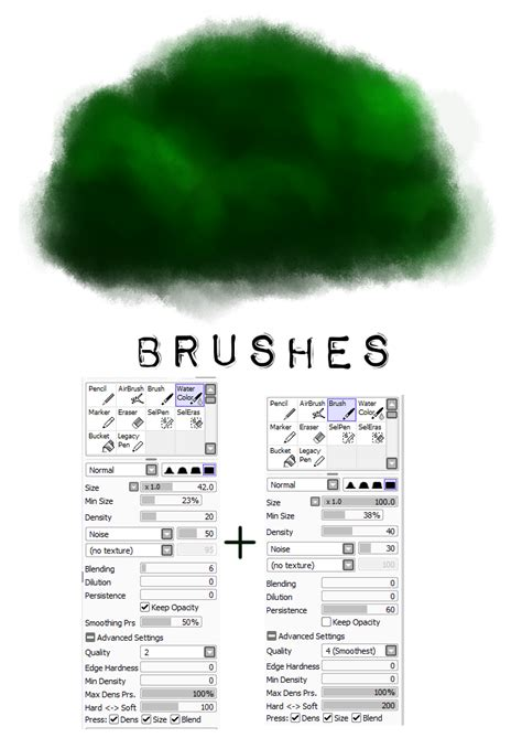 paint tool sai brushes painttool sai brush settings 2 tree by m42ngc1976 on