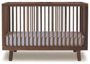 Modern Crib Oeuf Sparrow Crib Walnut Modern Cribs By All Modern