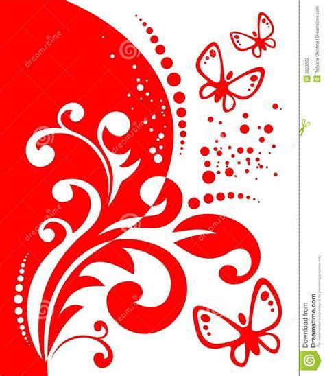imagenes de vectores rojos decoraci 243 n y mariposas rojas ilustraci 243 n del vector