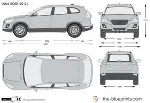 Volvo Xc60 Measurements The Blueprints Vector Drawing Volvo Xc60