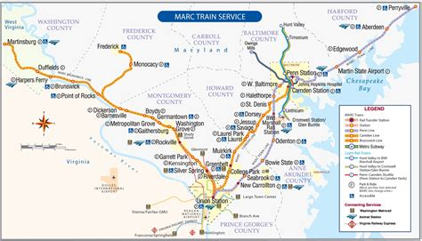 marc map brunswick line schedules maryland transit administration