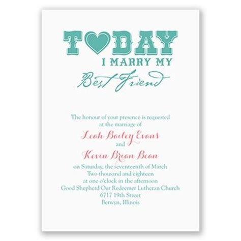 today i invitation friend wedding fonts and