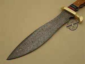 professional damascus bowie knife custom handmade damascus steel