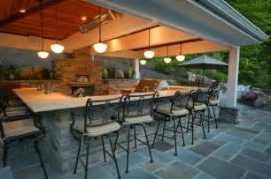 Outdoor kitchen with pizza oven traditional deck dc metro by