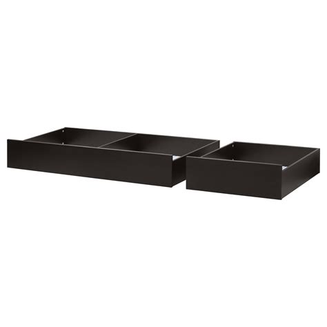 hemnes bed storage box set of 2 black brown ikea