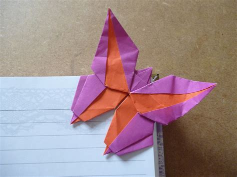 Butterfly Origami Bookmark - origami corner bookmarks atelier ilyere