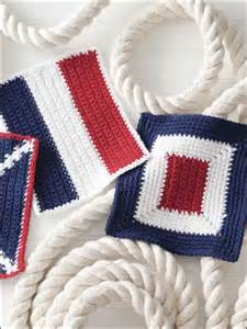 Lighthouse Rug Crochet Kitchen Decor Nautical Dishcloths