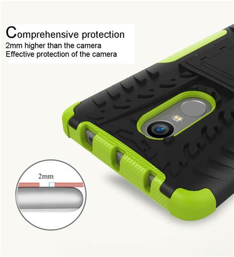Xiaomi Redmi Note 3 Mirror Cover Hello Stand Soft hybrid shockproof tpu pc armor stand holder back