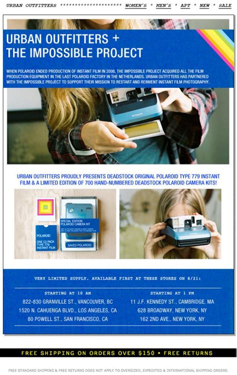 email format urban outfitters polaroid urban outfitters an email to in store photo