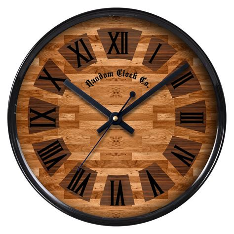 random home decor brown wall hanging clock large indoor