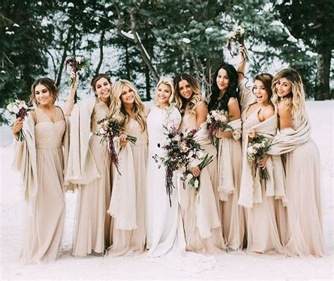 Top 8 Wedding Dresses For A Fall Wedding by Best 25 Winter Bridesmaid Dresses Ideas On