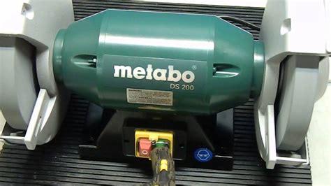 metabo bench grinder 8 metabo ds200 8 quot bench grinder demo