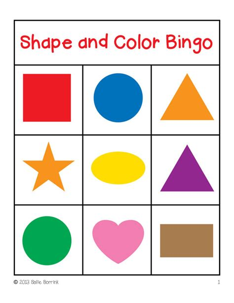 printable shapes with color clip art bingo cliparts co