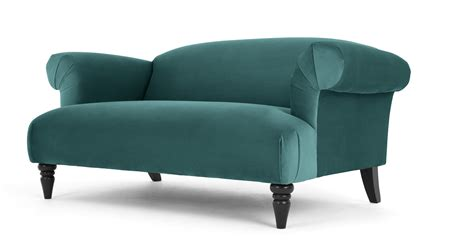 peacock blue loveseat claudia 2 seater sofa peacock blue velvet made com