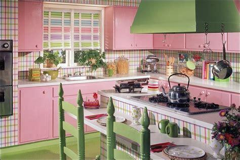 pink and green kitchen bfb kitchen