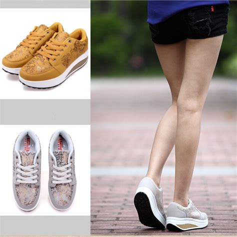 womens casual shake sneakers shoes non slip platform shoes