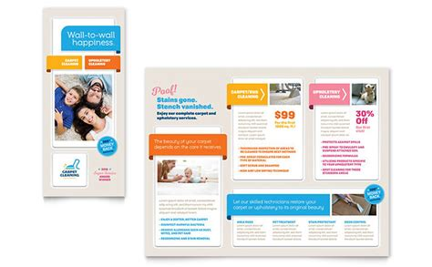 Carpet Cleaning Brochure Template Design Flyer Template Publisher