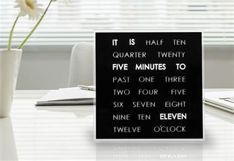 led word clock  sharper image