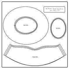tricorn hat template tricorn hat pattern reviews and photos can t click