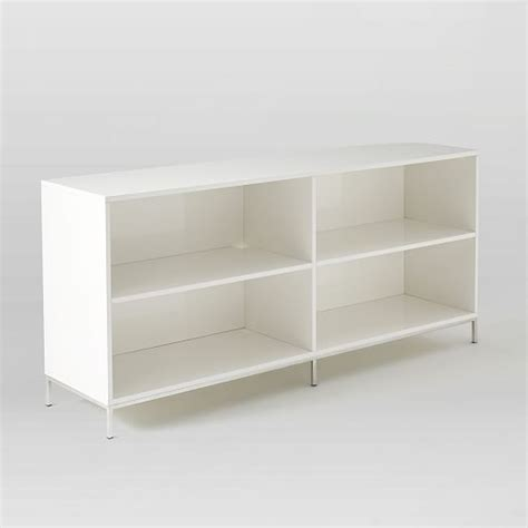 lacquer storage bookcase west elm