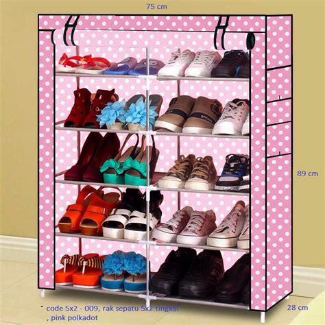 Rak Sepatu Tertutup jual rak sepatu dusk cover tertutup 5 tingkat x 2 total 10