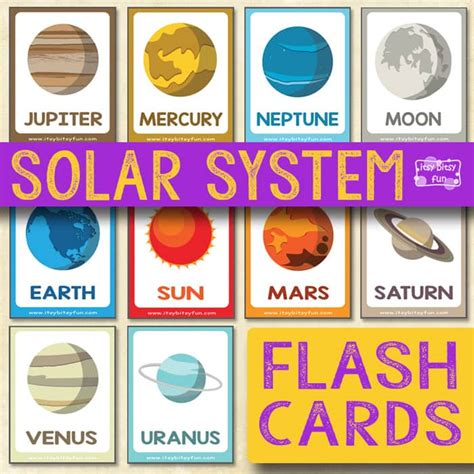 solar system fact cards template solar system flashcards itsy bitsy