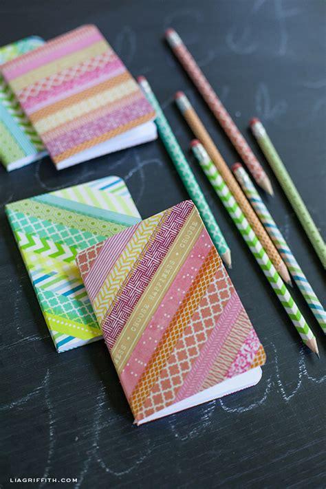 washi tape ideas diy washi tape notebooks and pencils