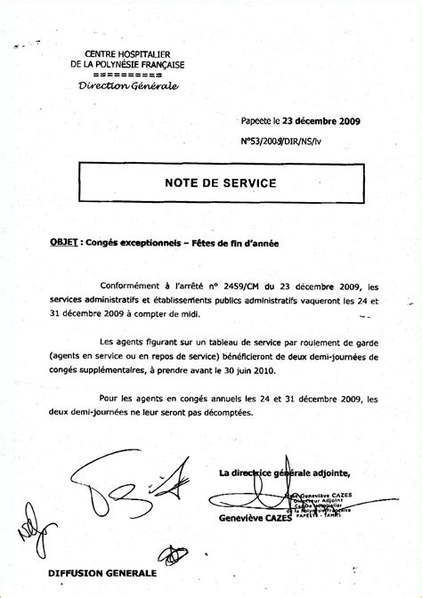 Exemple De Lettre Note D Information 13 Exemple Note De Service Lettre De Demission