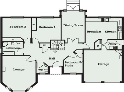 5 bedroom floor plan 5 bedroom bungalow in 5 bedroom bungalow floor plans