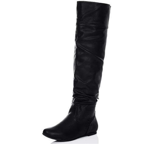 buy undercover flat slouch knee boots black leather