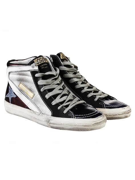 golden goose shoes golden goose golden goose slide leather sneakers black