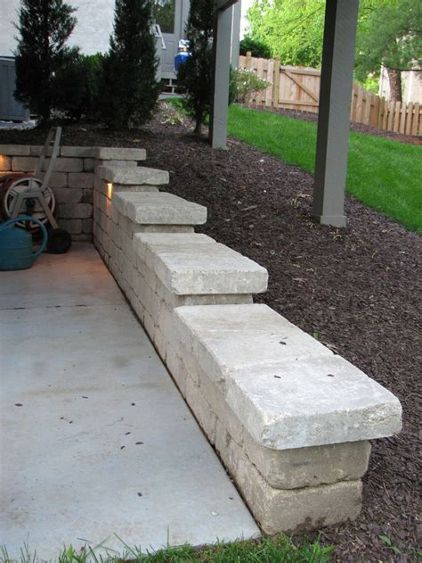 retaining wall lighting ideas 11 best images about retaining wall ideas on pinterest