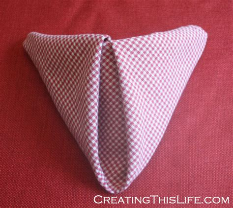 cloth napkin origami easy cloth napkin folding a step by step in pictures