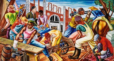 African Wall Murals hale woodruff s vibrant murals immortalize african