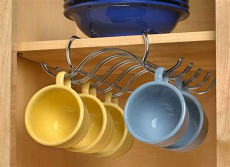 under cabinet cup holder 30 fun and practical diy coffee mugs storage ideas for