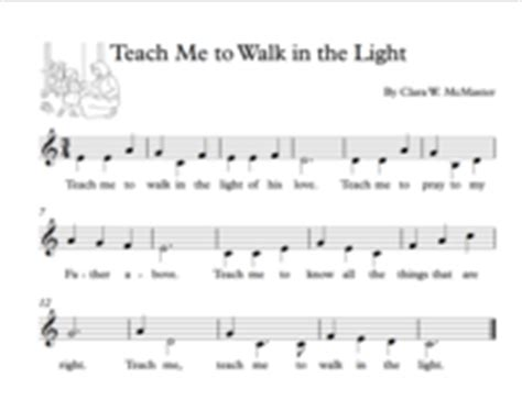 teach me to walk in the light sheet piano 553 free arrangements