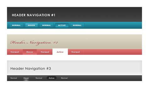 header nav design free header navigation pack ui kit for photoshop