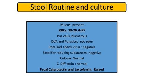 Stool Test For Reducing Substances by Inflammatory Bowel Disease