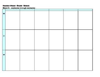 plan book template  controlling  chaos teachers pay teachers