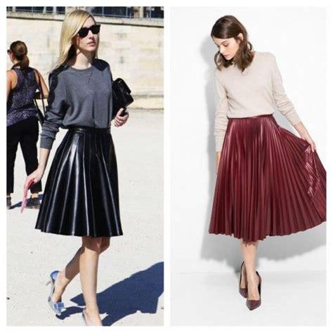 faldas de cuero con vuelo falda de cuero con vuelo midi fashion real women can