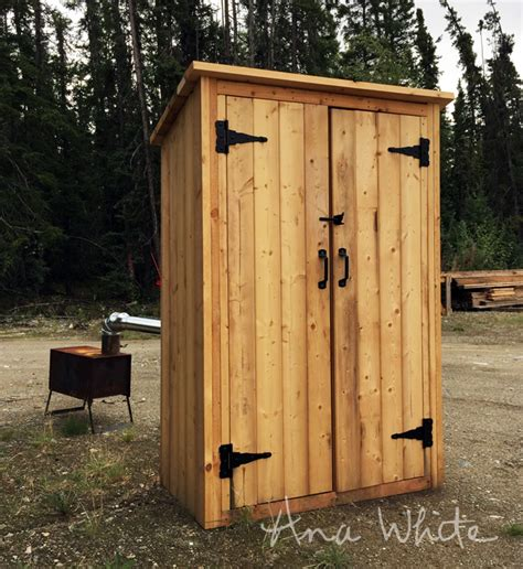 smoke house ana white small outdoor shed or closet converted into smokehouse diy projects