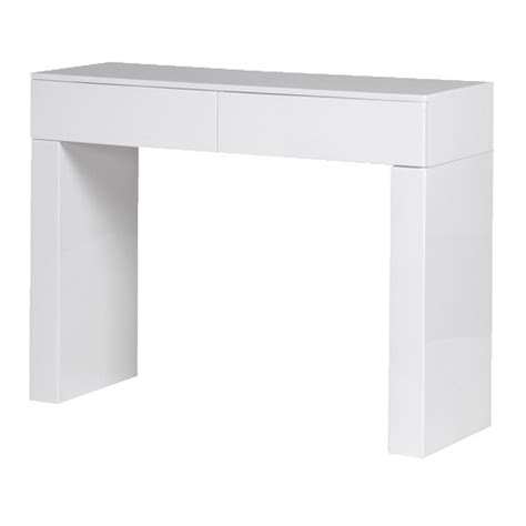 White Gloss Console Table White High Gloss 2 Drawer Console Table