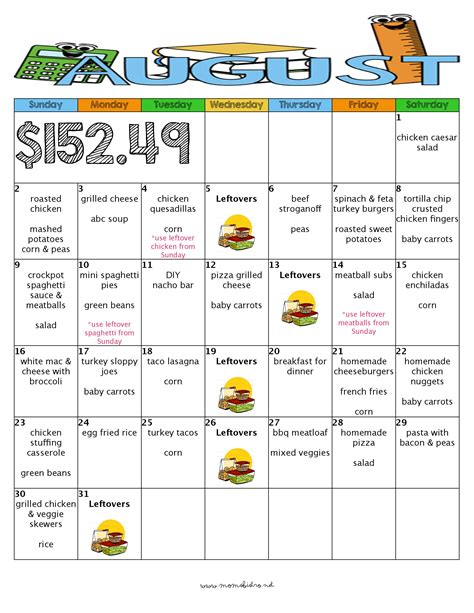 inexpensive dinner menu a month of delicious kid friendly dinners for 152 with