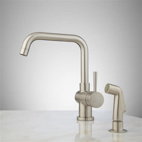 one hole kitchen faucet with sprayer lolita single hole kitchen faucet with side spray kitchen