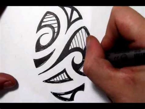 sketching a maori tribal picture quick sketch youtube