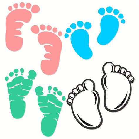 Baby Newborn Feet Footprint Cuttable Designs Baby Footprint Designs 2